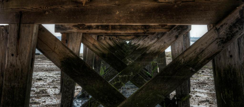Under Shotley Pier